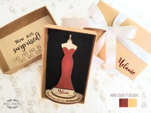 Personalized Will You Be My Bridesmaid proposal gift idea with box
